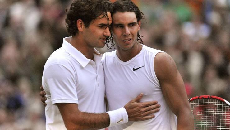 Zum vierten Mal, aber zum ersten Mal seit über elf Jahren, treffen Roger Federer und Rafael Nadal in Wimbledon aufeinander.
