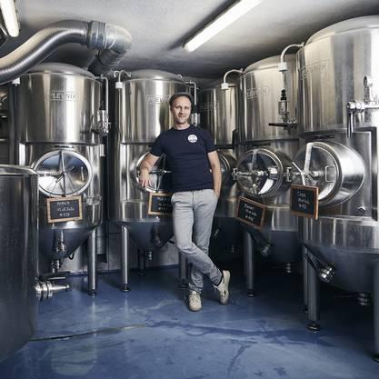 Aus der Region, für die Region: Luc Nünlist braut das Oltner Trei Tannen Bier.