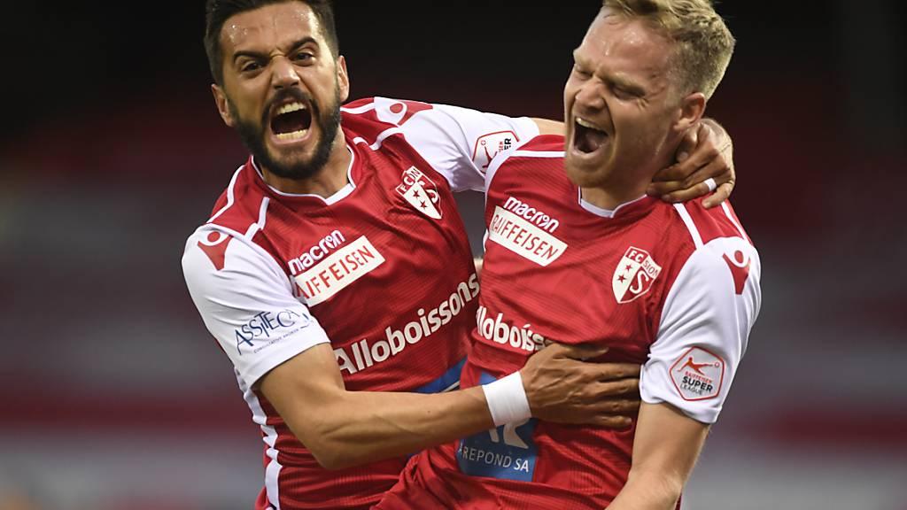 Sion rettet sich mit 4:0 gegen Basel in die Barrage