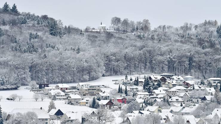 Kappel mit Bornkapelle präsentiert sich erstmals in diesem Winter im weissen Kleid.