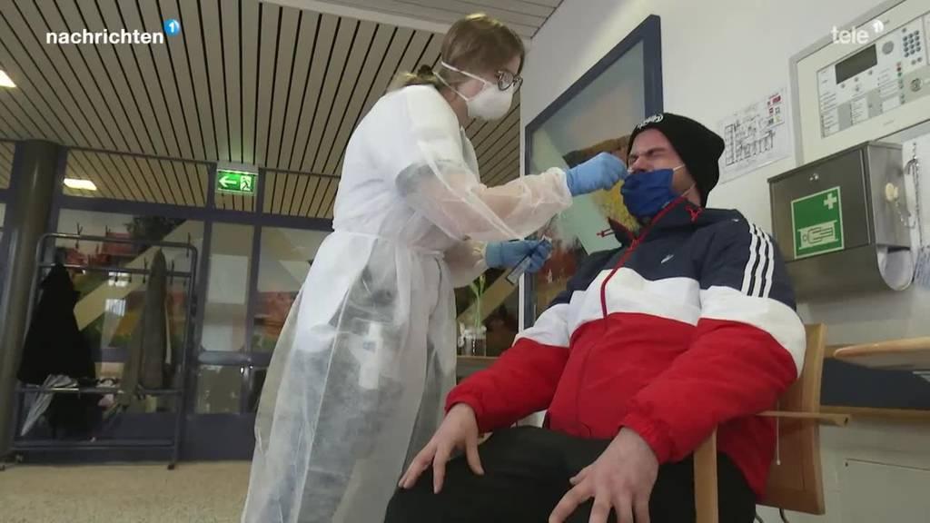Pflegeheime mit Schnelltests gegen Massenansteckungen