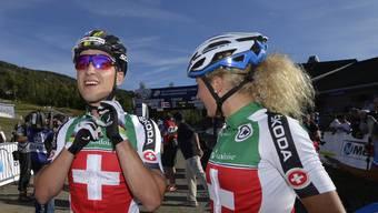 Unsere Goldhoffnungen im Mountainbike: Nino Schurter und Jolanda Neff.
