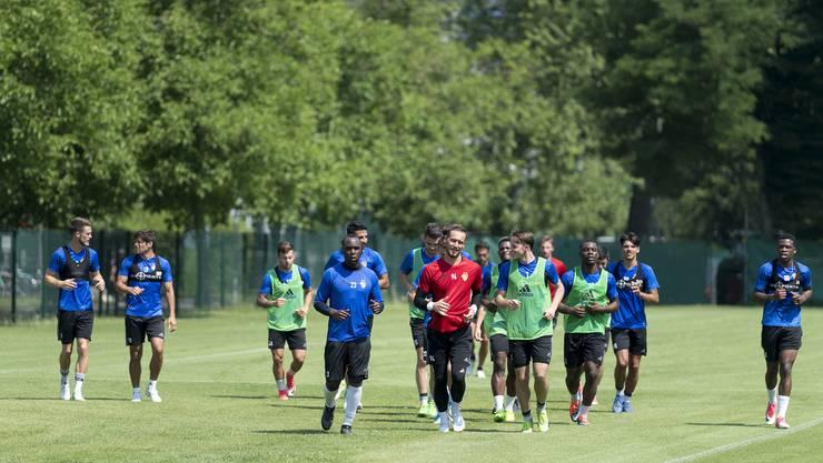 Unter der brennenden Sonne: Der FC Basel startete am Donnerstag die Saisonvorbereitung.