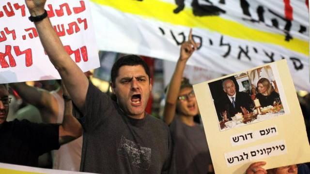 Israelis protestieren gegen die Sparpolitik ihrer Regierung