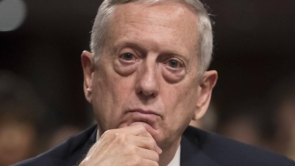 Muss einen Ersatzkandidaten für den Posten des Marine-Staatssekretärs finden: US-Verteidigungsminister James Mattis. (Archivbild)