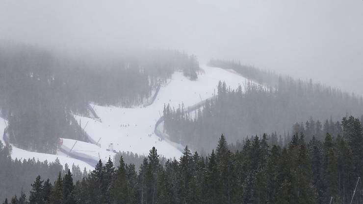 Das Wetter spielte am Donnerstag in Beaver Creek nicht mit