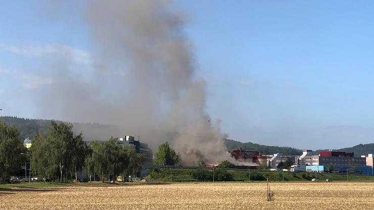 In einer Recycling-Firma in Schlieren kam es zu einem Brand.