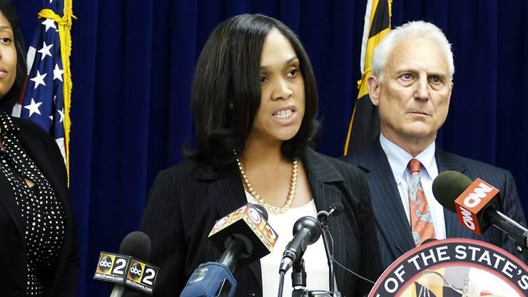 Klagt nach Polizeigewalt in Baltimore an: Staatsanwältin Marilyn Mosby