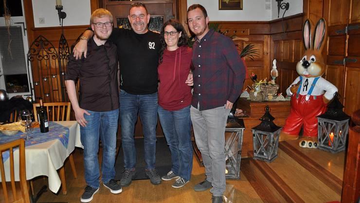 v.l.n.r.: Lukas Müller, Reto Kunz, Andrea Meier, Reto Voramwald