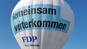 Kann die FDP im Herbst abheben oder bleiben die Versprechen heisse Luft? (Quelle: Peter Haudenschild)