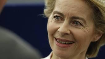 Neue starke Frau in Brüssel: Ursula von der Leyen soll Jean-Claude Juncker am 1. November beerben.  (Keystone)