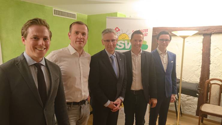 Von links: Philippe Ruf, Matthias Borner, Andreas Glarner, Christian Imark, Robin Kiefer.