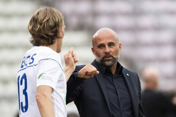Trainer Giorgio Contini (rechts) und Lausanne machen auch gegen starke Gegner einen guten Eindruck.