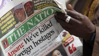 Die Islamistengruppe Ansaru meldete bereits gestern die Tötung der Geiseln
