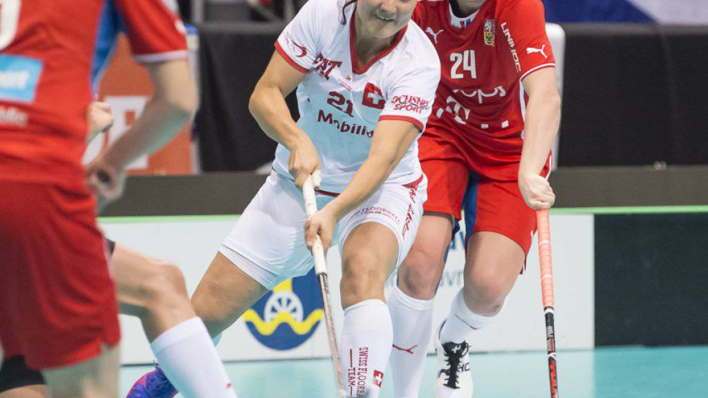 Matchwinnerin: Die Rekord-Torschützin Corin Rüttimann erzielt gegen Tschechien alle Schweizer Tore