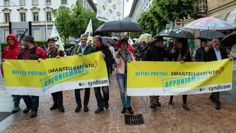 Demonstrationen gegen Poststellen-Abbau (6.5.2017)