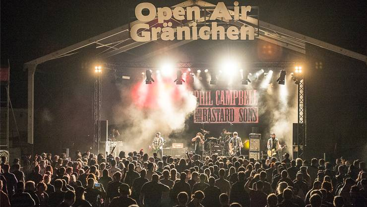 Phil Campbell & The Bastard Sons am Open Air Gränichen 2017.