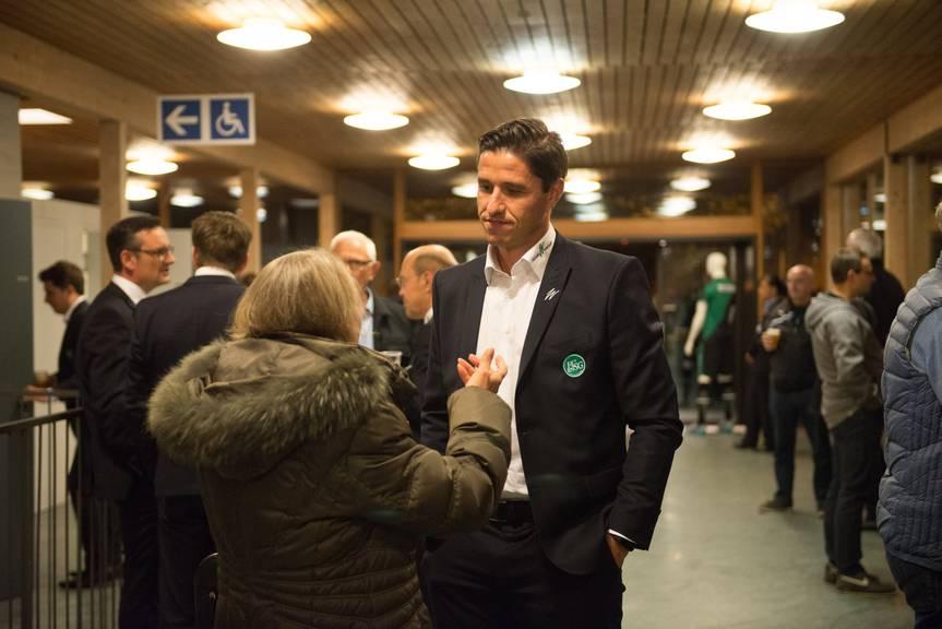 Martin Stocklasa nach der Generalversammlung des FC St.Gallen.