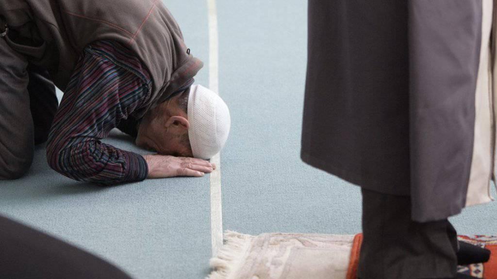 Muslime beten während des Freitagsgebets in der Moschee von Langenthal (Symbolbild).