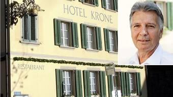Rolf Kasper ist als Hauptaktionär der AargauHotels.ch neu Besitzer der Lenzburger «Krone». Ihm gehören zahlreiche weitere Betriebe.