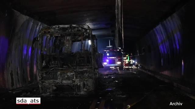 Grosser Brandschaden im San Bernardino-Tunnel
