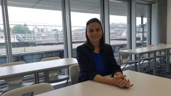«Aktuell haben wir 222 Studenten», erklärt Standortleiterin Martina Kiefer. Die HSO hat ihre neuen Räume über den Geleisen.Bild: uhg