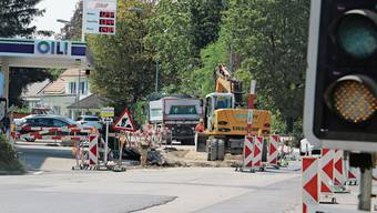 Ab Dezember können Autos die Winterthurer-/Baslerstrasse in Laufenburg wieder befahren, ohne vor einer Ampel warten zu müssen.