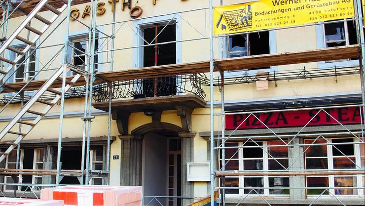 Neues Kleid: Die Fassade des Restaurants wir zur Zeit wieder hergerichtet. Marisa Cordeiro