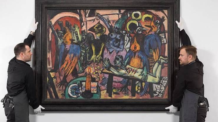 """Grelle Farben und gequälte Figuren: Max Beckmann malte """"Hölle der Vögel"""" 1938 in Amsterdam und Paris."""