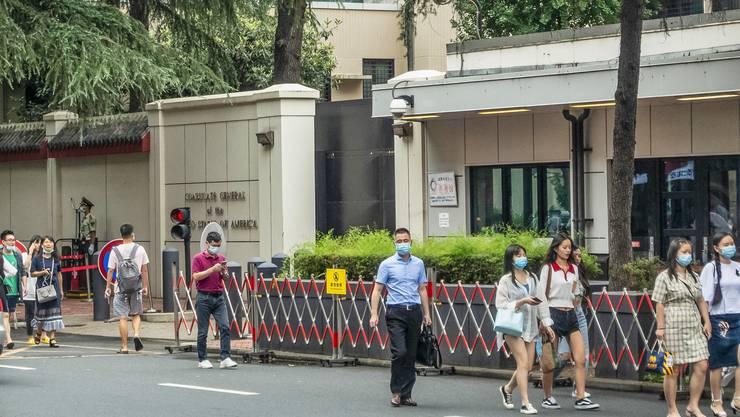 Das US-Konsulat in Chengdu: Peking hat dessen Schliessung verfügt.