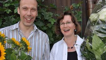 Strahlende Sieger: Claudio Piovesan (parteilos) und Claudia Trüeb (FDP) nehmen neue Aufgaben in Angriff. (bhi)