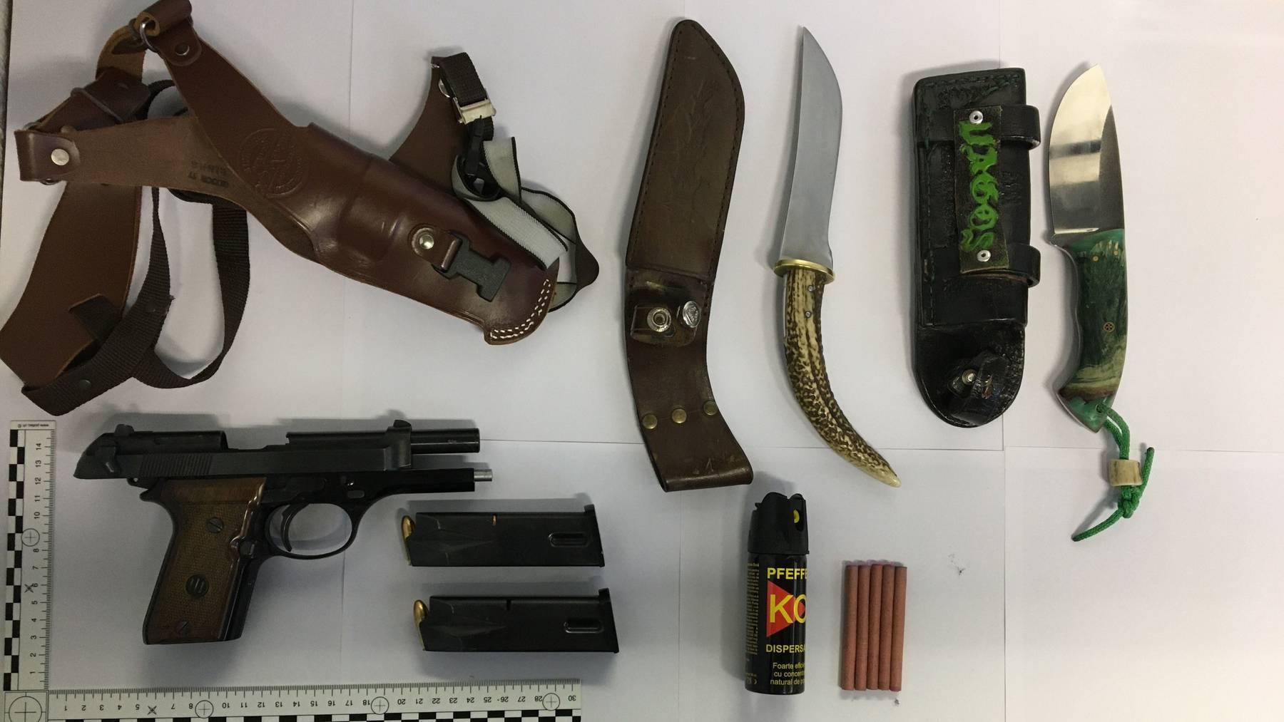Die beiden Männer versuchten mehrere Waffen in die Schweiz zu schmuggeln.