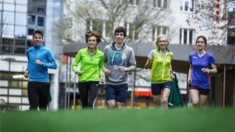 Familie Humbel schwitzt für den Aargau Marathon