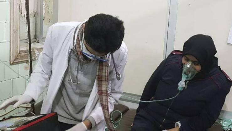 Die USA werfen Russland und Damaskus vor, einen Chlorgasangriff in Aleppo im November vorgetäuscht und den angeblichen Ort selbst kontaminiert zu haben, um es den Rebellen in die Schuhe schieben zu können. (Archivbild)