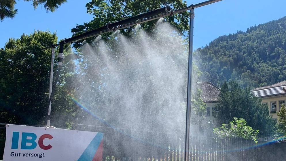 Kühle Dusche für heisse Tage in Chur