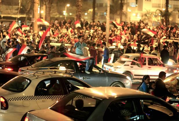 Auf dem Tahrir-Platz wird gefeiert