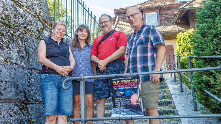 Barbara Spiess, Eva-Maria Fischli, Stefan Hof und Markus Fischli (v.l.) sind in den Startlöchern für die «Sommerfilme». Bild: Andreas Kaufmann
