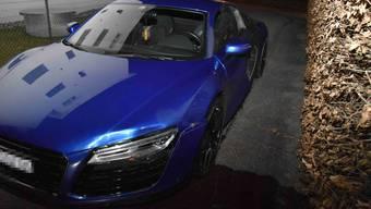 Mit diesem Audi R8 floh der 17-jährige Serbe am Sonntagabend vor der Polizeikontrolle.