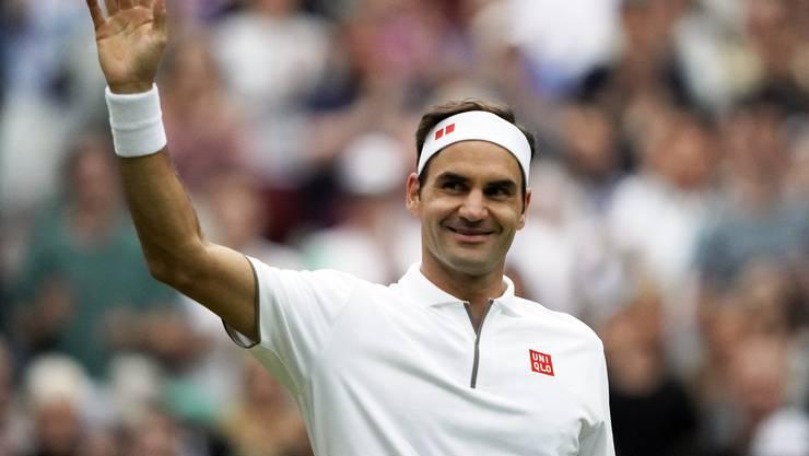 Roger Federer steht in den Wimbledon-Viertelfinals.
