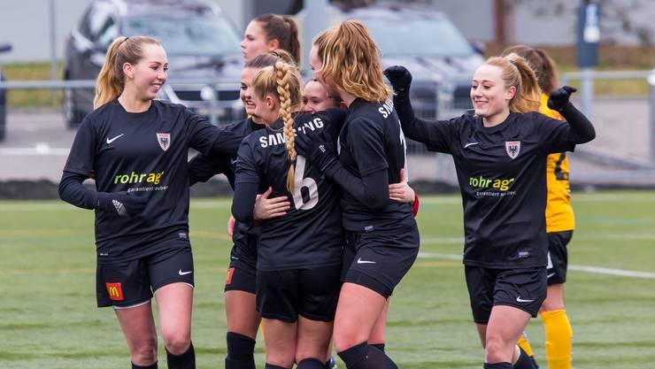 FC Aarau Frauen sind auf Erfolgskurs. Bild: Fabio Baranzini
