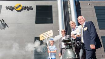 Regio Energie eröffnet Hybridwerk Aarmatt