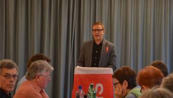 Arsène Perroud, Wohlen, verlangte in Muri mehr soziale Gerechtigkeit. ES