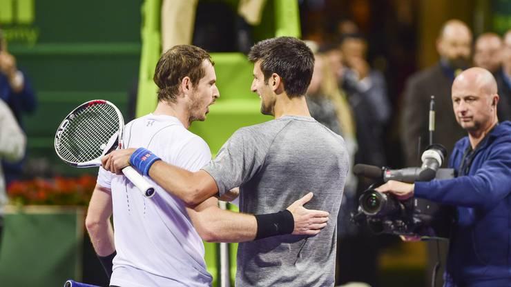 Murray und Djokovic lieferten sich in Doha einen hochspannenden Final.