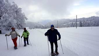 Schneeschuhwandern auf dem Grenchenberg