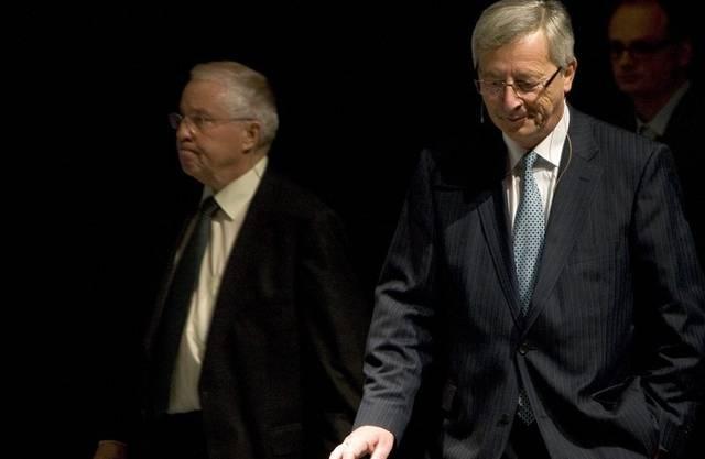 Christoph Blocher (links) und Luxemburgs Premier Jean-Claude Juncker