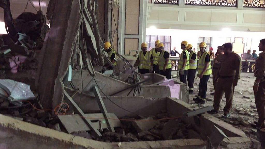 Der Kran stürzte am Freitag auf die Grosse Moschee in Mekka und tötete Dutzende.