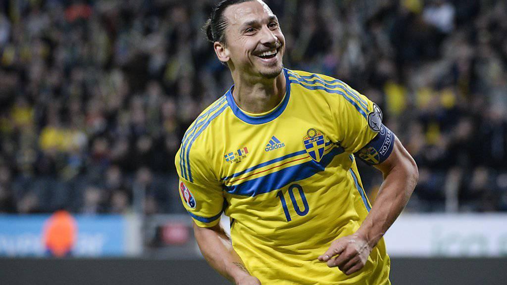Zlatan Ibrahimovic verwandelte kurz nach der Pause einen Foulpenalty souverän