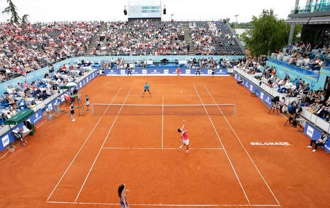 Am Freitag begann die Adria-Tour mit einem gemischten Doppel, bei dem Novak Djokovic an der Seite seiner Landsfrau Jelena Jankovic spielte.