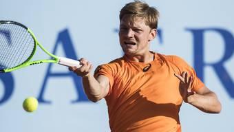 David Goffin wehrt in seinem ersten Spiel in Gstaad zwei Matchbälle ab und erreicht die Viertelfinals