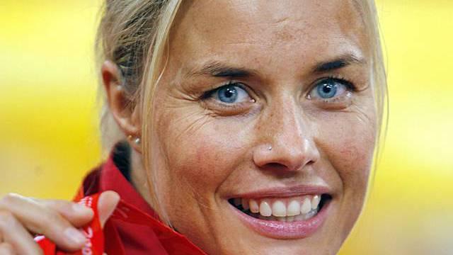 Hunkeler, hier mit ihrer Bronzemedaille in Peking 2008 (Archiv)